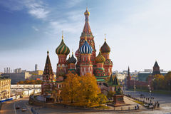 View of the Saint Basil cathedral Stock Images