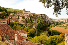 View of Saint-Cirq-Lapopie France Royalty Free Stock Photo