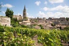 View of Saint Emilion village in Bordeaux region in France. Landscape view of Saint Emilion village in Bordeaux region in France stock photography