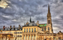 View of Saint Epvre basilica in Nancy Stock Photography