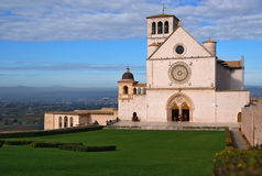 View of the saint francis abbey. Assisi. Royalty Free Stock Image