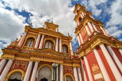 View on the Saint Francis church in Salta, Argentina. South America on a sunny day royalty free stock photography