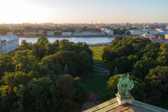 View from Saint Isaac's Cathedral Colonnade Stock Photography