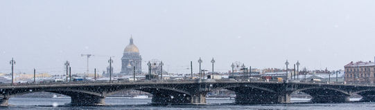 View on Saint Isaac's Cathedral Stock Photography