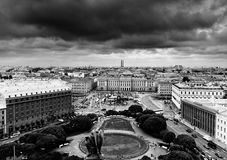 View of Saint Isaac's square Stock Images