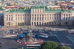 View of Saint Isaac's Square  in St.Petersburg, Russia Royalty Free Stock Image