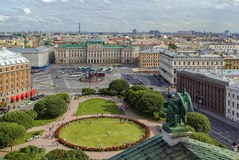 View Saint Isaac Square, Saint Petersburg Stock Photography