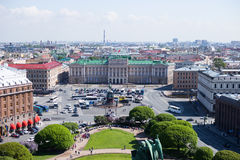 View of Saint Isaac& x27;s square and the Monument to Nicholas I in St. Petersburg, Russia Stock Image