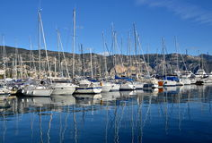 View on Saint Jean Cap Ferrat village and its harbor, France Royalty Free Stock Photography