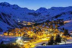 View of Saint Jean d'Arves by night Royalty Free Stock Image