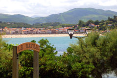 View on Saint-Jean-de-Luz and Ciboure Royalty Free Stock Images