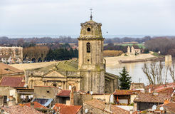 View of the Saint Julien church in Arles Royalty Free Stock Images