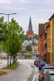View of Saint Jurgen Church in Flensburg city, Germany Royalty Free Stock Photo