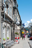 A view of Saint-Louis street on May18, 2014 Stock Images