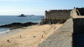 Saint Malo bastions Royalty Free Stock Image