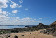 Saint-Malo. View of Saint-Malo beach Royalty Free Stock Image