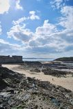 Saint-Malo. View of Saint-Malo beach Royalty Free Stock Photo
