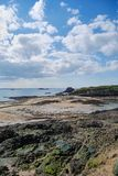 Saint-Malo. View of Saint-Malo beach Royalty Free Stock Photos