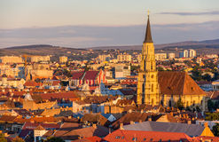 View of Saint Michael's Church in Cluj-Napoca Stock Images