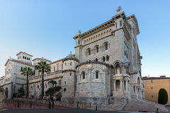 View of Saint Nicholas Cathedral in Monaco. stock images