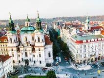 View on Saint Nicholas Church in Prague Royalty Free Stock Photos