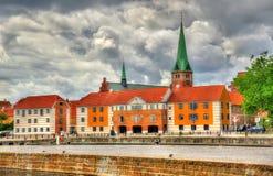View of Saint Olaf Church in Helsingor, Denmark Royalty Free Stock Photos