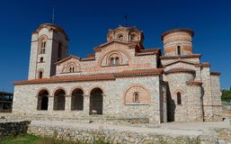 View of Saint Panteleimon Church in Old Ohrid, Royalty Free Stock Image