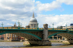 A view on the Saint Paul Cathedral and Southwark in London Royalty Free Stock Photography