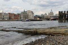 A view on the Saint Paul Cathedral and the Thames. A beautiful view on the Saint Paul Cathedral and the Thames stock image