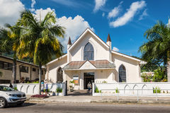 View of Saint Paul Cathedral in Victoria, Mahe island, Seychelle Royalty Free Stock Images