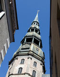 View on Saint Peter cathedral, Riga, Latvia Royalty Free Stock Photography