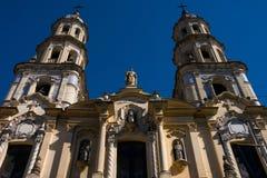 View of Saint Peter`s Telmo Church Iglesia de San Pedro Telmo stock image