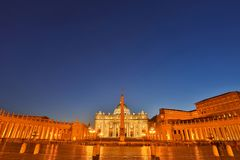 View of Saint Peters Square in Vatican, Rome Royalty Free Stock Image