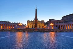 View of Saint Peters Square in Vatican, Rome Stock Photos