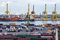View of Saint Petersburg Cargo Harbor Royalty Free Stock Photo