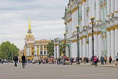 View of Saint-Petersburg city, Russia. Hermitage Museum Royalty Free Stock Image