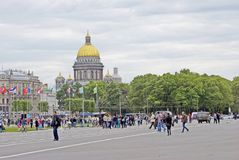 View of Saint-Petersburg city, Russia. Saint Isaak Cathedral Stock Images