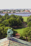 View of Saint-Petersburg city, Russia, from Saint Isaak Cathedral. Stock Photo