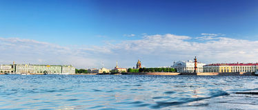 View of Saint Petersburg from Neva river. Stock Photos