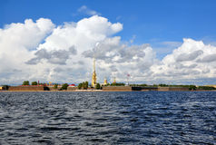 View of Saint Petersburg from Neva river. The Peter and Paul For Royalty Free Stock Photos