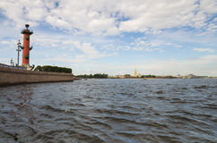 View of Saint-Petersburg from Neva river Royalty Free Stock Photography