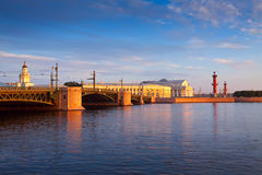 View of Saint Petersburg. Palace Bridge Royalty Free Stock Photos
