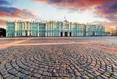 View of Saint Petersburg. Panorama of Winter Palace Square, Hermitage - Russia stock photos