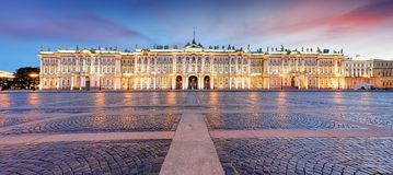 View of Saint Petersburg. Panorama of Winter Palace Square, Hermitage - Russia stock photo