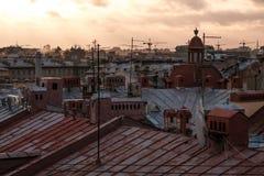 View of Saint Petersburg roofs Stock Image