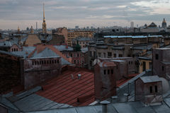View of Saint Petersburg roofs Stock Photos