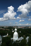 View of  Saint-Petersburg from the Smolny Cathedral bell tower Stock Image