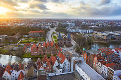 View from the Saint Petri Church tower over the city, Lubeck Stock Images
