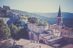 View of Saint Saturnin d Apt, Provence, France Stock Photo
