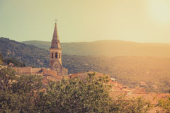 View of Saint Saturnin d Apt, Provence, France Royalty Free Stock Images